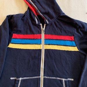 Hanna Andersson size 150 navy zip up hoodie
